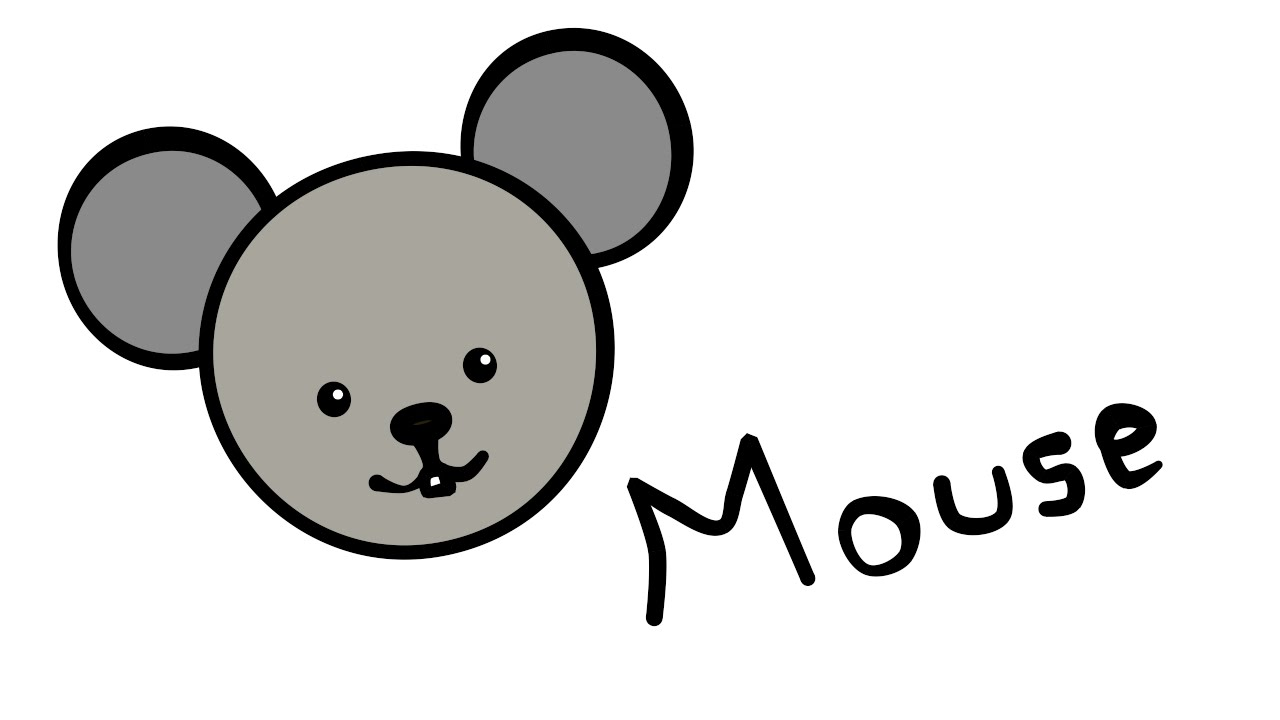Cute and quick 2 0 how to draw a mouse youtube for How to draw with a mouse