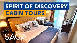 Saga Spirit of Discovery Suite, Balcony, Single and Deluxe Cabin Tours
