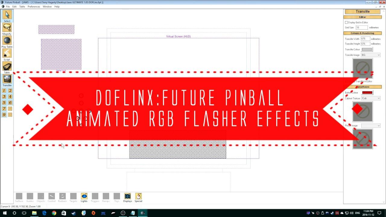 DOFLinx: Future Pinball table modding tutorial - Part 9: Animated RGB  Flashers Effects by TerryRed