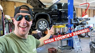 CUTTING A BRAND NEW $70,000 2020 HIGH COUNTRY DURAMAX IN HALF... *My FIRST SEMA Build!*
