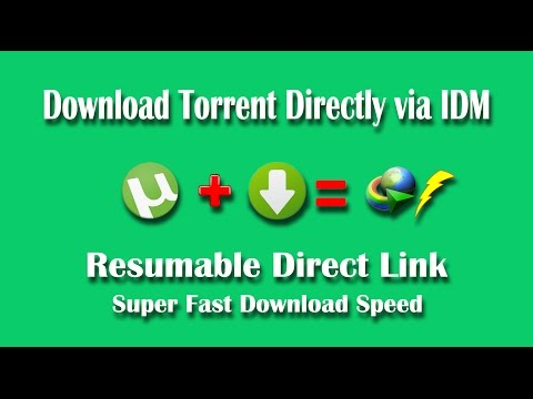 Download Torrent Files Directly with IDM - Torrent to Resumable High Speed Direct Download Link