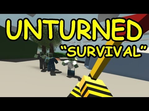 Unturned | MINECRAFT ZOMBIE SURVIVAL | Funny Moments!