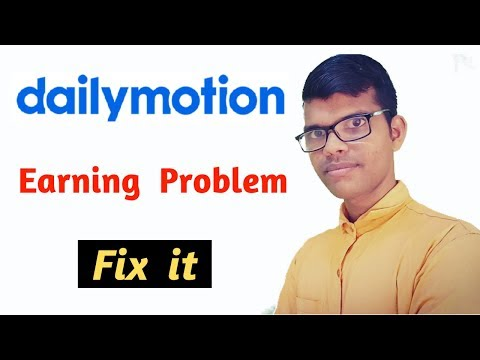 dailymotion income problem solved