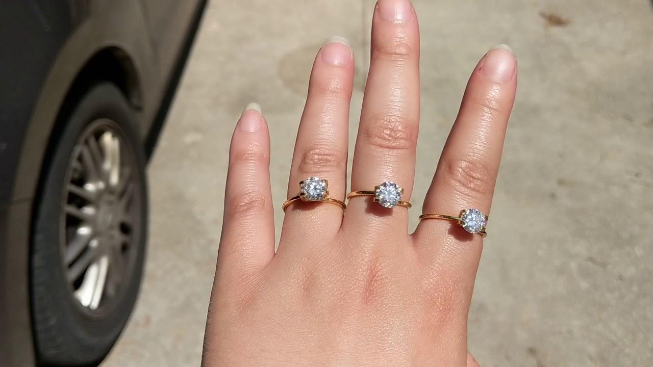 Moissanite rings from Starsgem on ebay (starsgem8