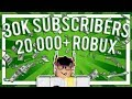 30K SUBSCRIBER CONTEST! (20k+ ROBUX PRIZE POOL)