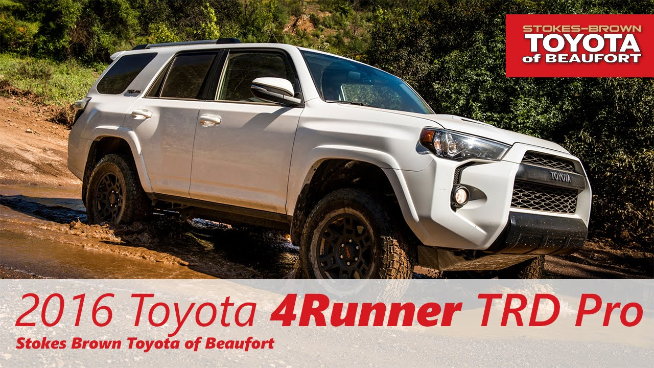 2016 toyota 4runner trd pro at stokes brown toyota of beaufort youtube. Black Bedroom Furniture Sets. Home Design Ideas