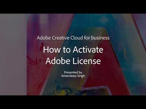 Activate Adobe License