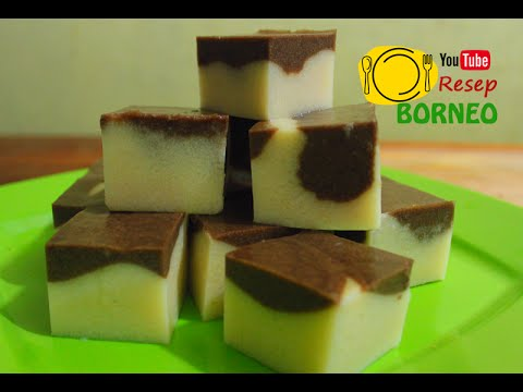 Resepi Agar- Agar Puding Coklat Marble Olahan Roti Tawar