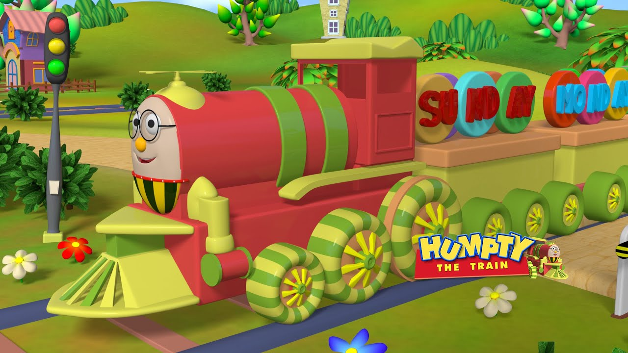 Learn Week days from Monday to Sunday with Humpty the Train | 4K | Kids videos | Humpty the Train