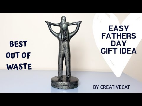 Fathers And Kid Sculpture/sculpture/best Out Of Waste/art And Craft