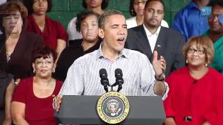 The American Jobs Act  Bus Tour: U.S. President Obama Talks Education in Emporia