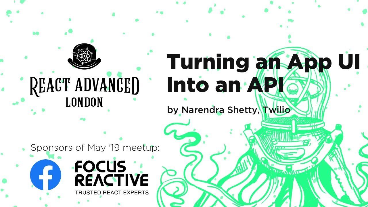 Turning an Application UI into an API – Narendra Shetty