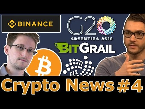 G20, BitGrail NANO Diebstahl & Edward Snowden über Bitcoin!