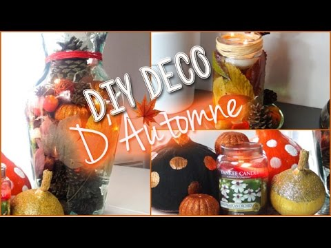 diy deco d 39 automne fall decor youtube. Black Bedroom Furniture Sets. Home Design Ideas
