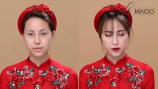 Hướng dẫn makeup cô dâu ngày ăn hỏi by Mai Đỗ Makeup