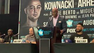 Kownacki-Arreola press conference gets hot when Haitians Get Heated