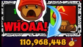 OVER 100 MILLION MEDALLIONS! THIS GUYS RICH! Bloons TD Battles