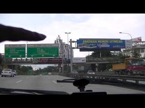 Leaving Kuala Lumpur by Highway