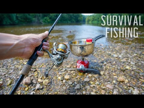 Eating ONLY What I Catch For 24 HOURS! (Survival Fishing) *Freshwater*