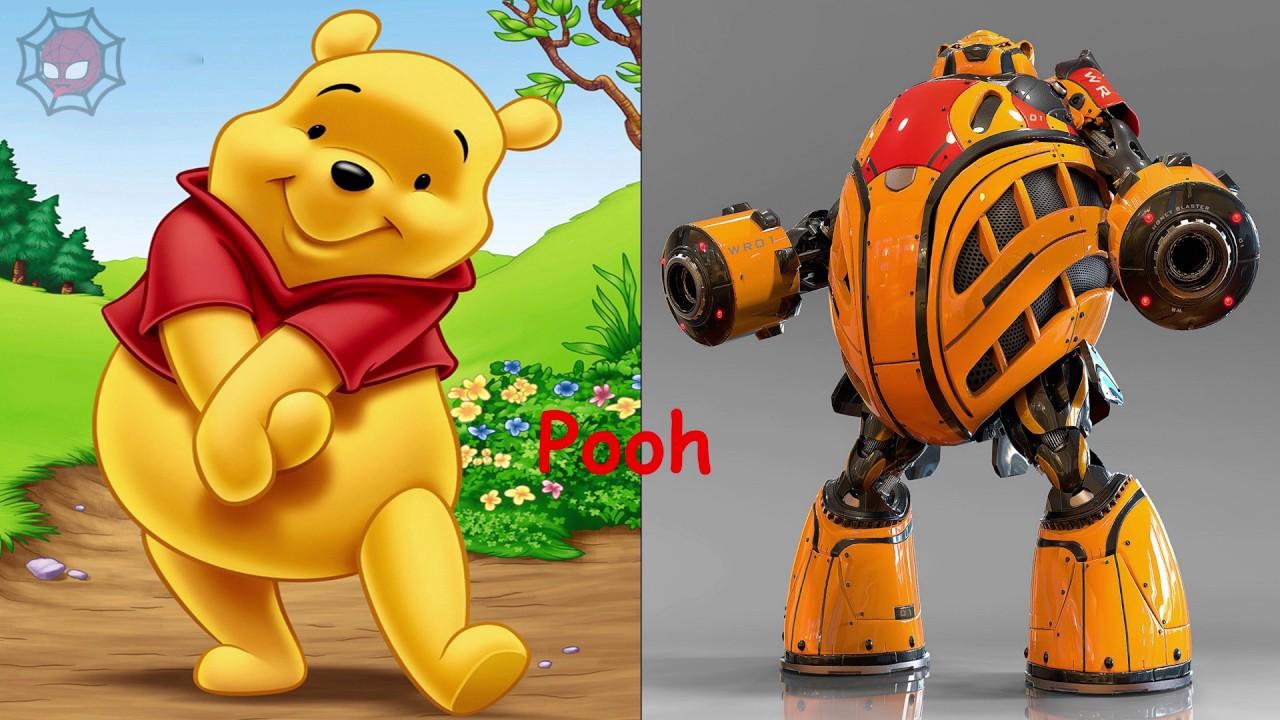 Cartoon Characters As Robots : Cartoon characters as robot disney princesses
