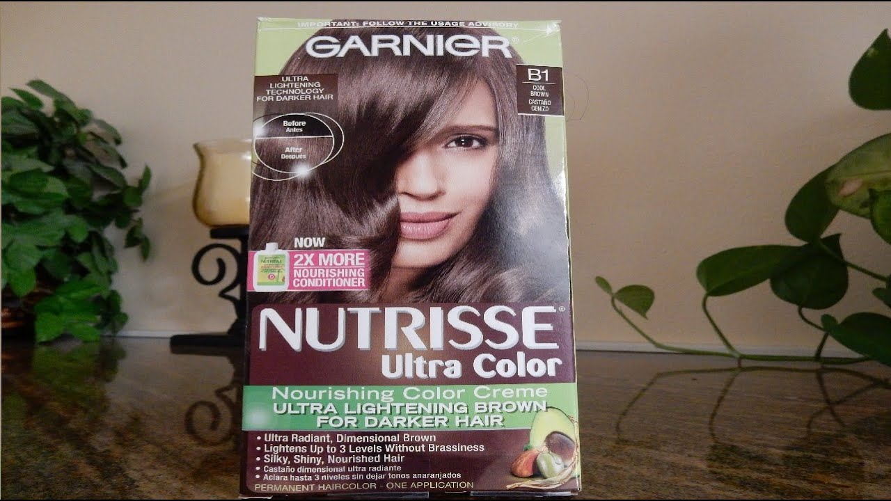 Garnier Nutrisse Ultra Color B1 Cool Brown Review Youtube