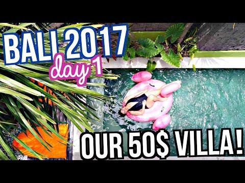 OUR 50$ VILLA TOUR!!! BALI TRAVEL VLOG 2017 ♡ | makeupbykarlamisa