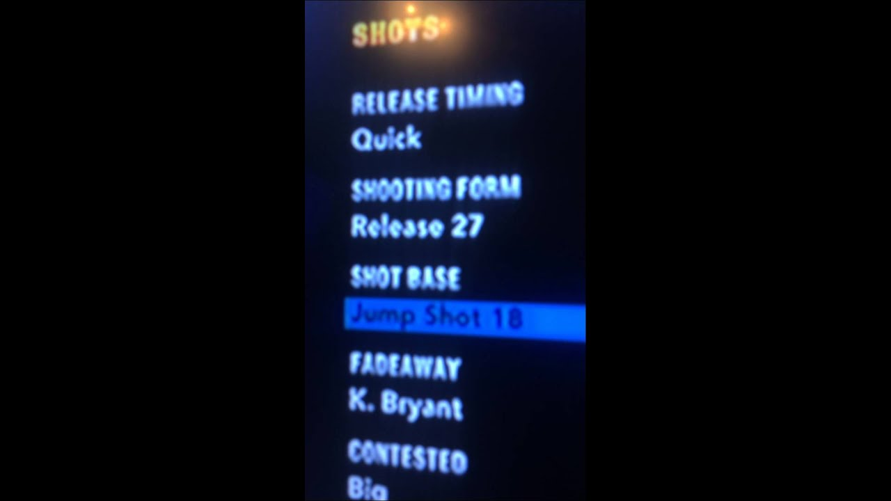 Nba2k14 Stephen Curry Jump Shot - YouTube