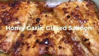Honey Garlic Glazed Salmon I Easy And Delicious Salmon Recipe I Salmon In Under 15 Minutes