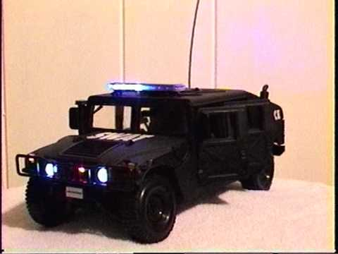 1 18 Swat Team Hummer Police Car With Working Lights And