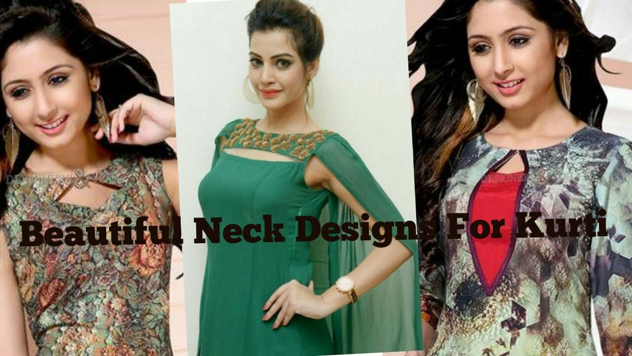 Latest Beautiful Fancy Neck Designs For Kurti Ladies Suit 2017 Youtube