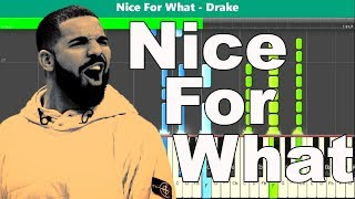 Nice for What Piano Tutorial - Free Sheet Music (Drake)