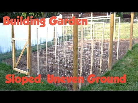 How To Build A Garden Fence On Slope Uneven Ground Or