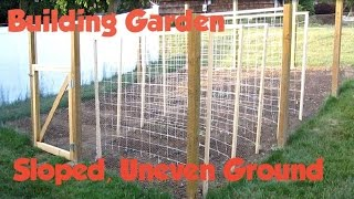 How To Build A Garden Fence On Slope Uneven Ground Or Hillside
