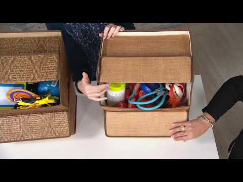 set-of-2-fabric-storage-boxes-with-lid-on-qvc