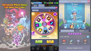 Taptap Heroes - 36 advanced wheel spins for Luna!