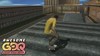 Tony Hawk's Pro Skater 2X by ThePackle in 27:57 - AGDQ2019