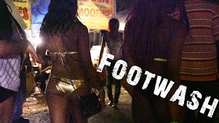 Repeat youtube video Watch the Wild Scene at Footwash