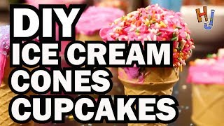 DIY Ice Cream Cone Cupcakes - HACK JOB
