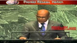 UN Speech Haiti : Discours Du President Martelly  à L