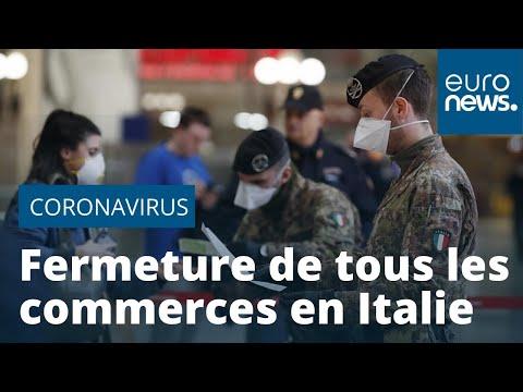 Coronavirus: l'Italie ferme tous ses commerces sauf pour l'alimentation et la santé (gouvernement)