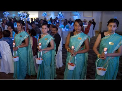 Bride Groom's Parents Entrance Dance At Indian Wedding Reception Entrance GTA | Toronto Videographer