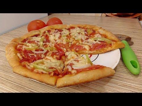 ПИЦЦА НА КЕФИРЕ без дрожжей / Быстрое и Вкусное Тесто для Пиццы на Кефире!