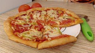 ПИЦЦА НА КЕФИРЕ без дрожжей Быстрое и Вкусное Тесто для Пиццы на Кефире