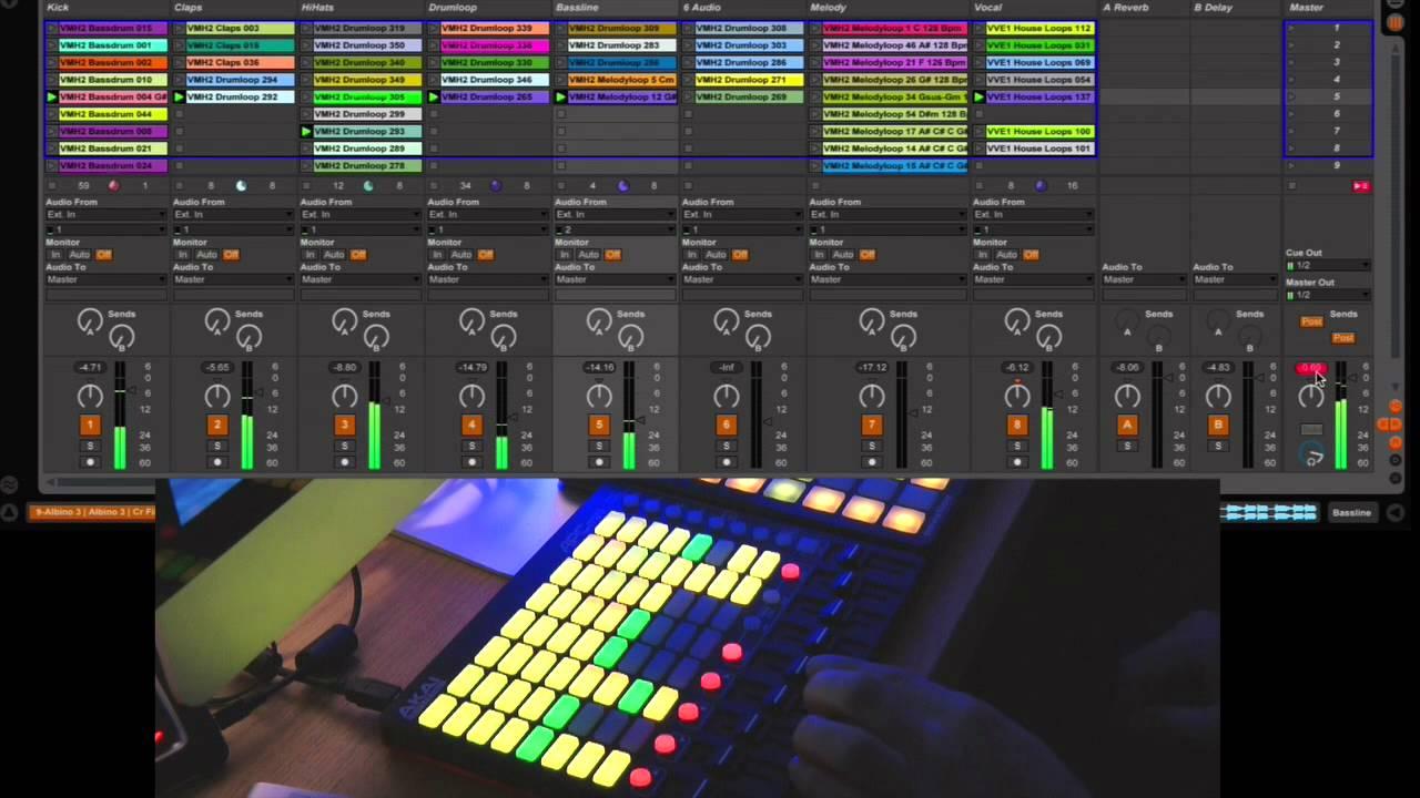 Démo ableton live session + akai apc mini youtube.