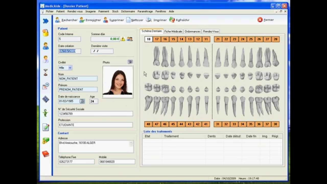 formation medicaide dentiste fiche patient