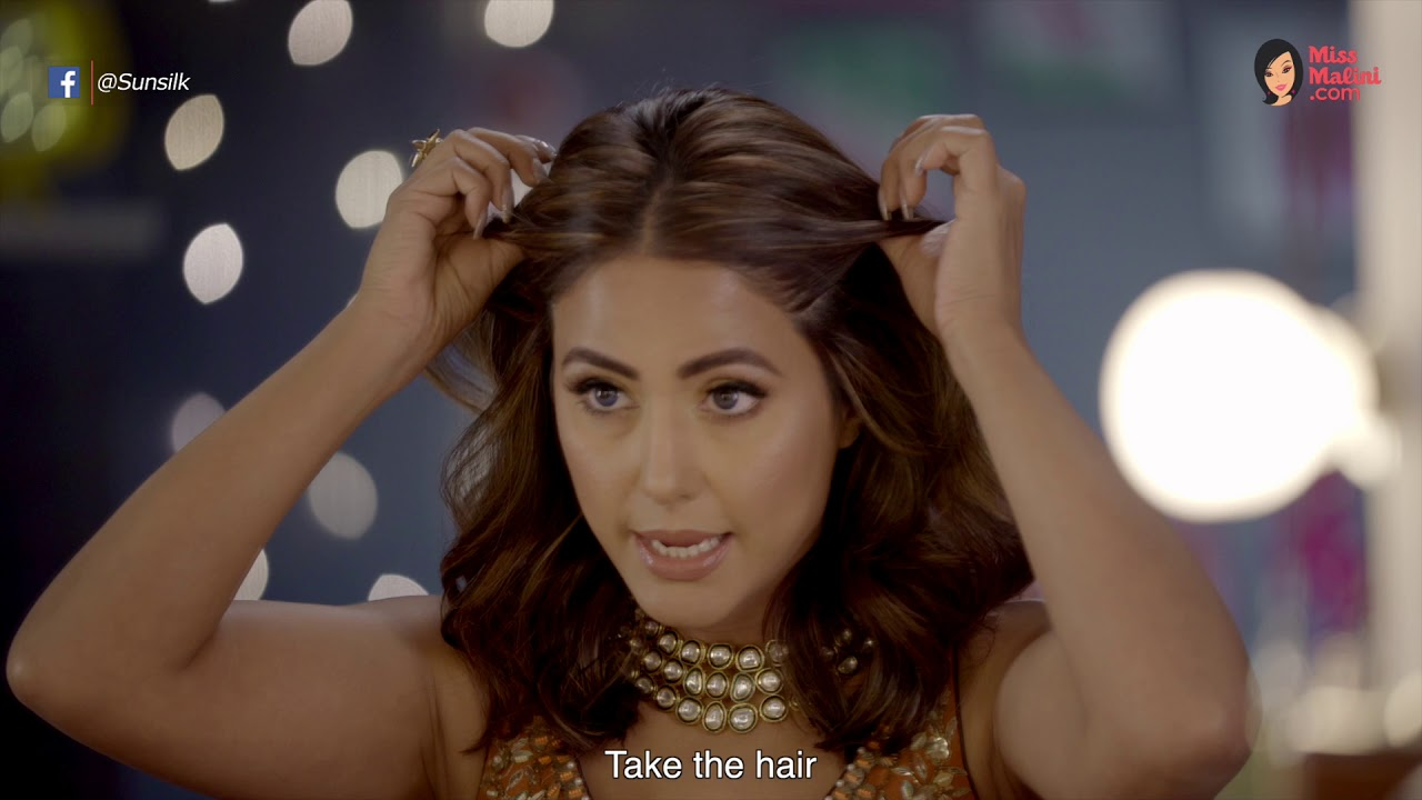 Stylish Wedding Hairstyle A Quick Hair Hack For Short Hair With Hina Khan Youtube