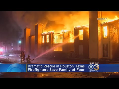 Dramatic Fire Rescue Captured On Video In Texas