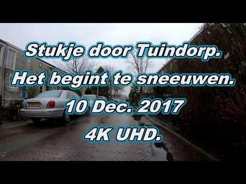 4K. Amsterdam noord. Door weer en wind. Tuindorp Oostzaan. 10 Dec. 2017.