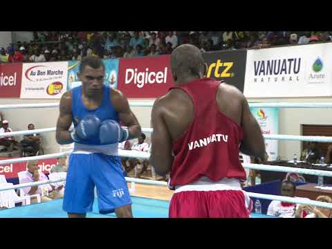 Pacific Mini Games Van2017 Boxing 75kg Vanuatu vs Fji