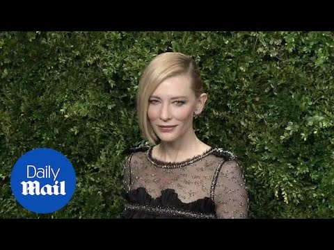 Cate Blanchett shows off quirky hairstyle at MOMA film gala - Daily Mail